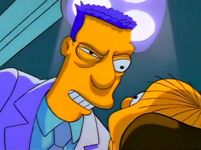 The Simpsons' dentist Dr Wolfe