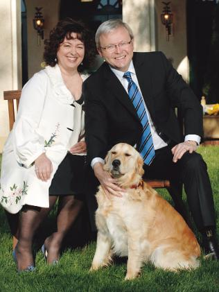 Kevin Rudd's dog Abby